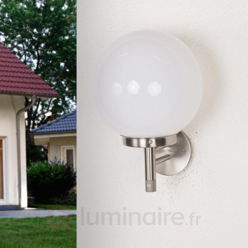 Applique ext. forme de boule et détecteur Juella - Appliques d'extérieur avec détecteur