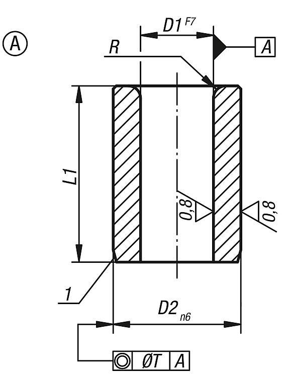 Drill Bushes Cylindrical Din 179 - Drilling jigs Drill bushes Jig elements