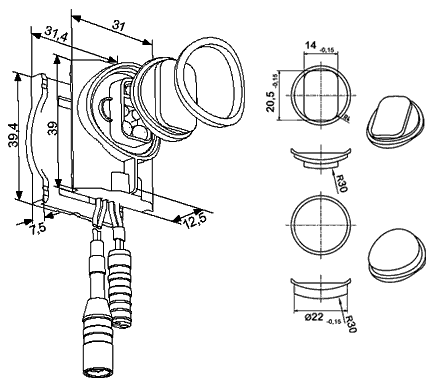 Combinaison du capteur externe avec la vanne à... - 050-B07.06E/-09E