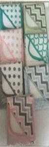 Serviette de bain bébé - Beige, rose, vert clair, jaune clair, blanc, bleu, gris