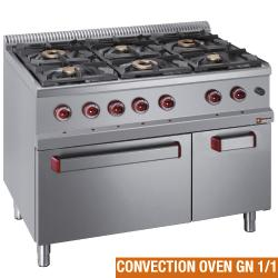 GAS STOVES & ELECTRIC CONVECTION OVENS - GAMME OPTIMA 700