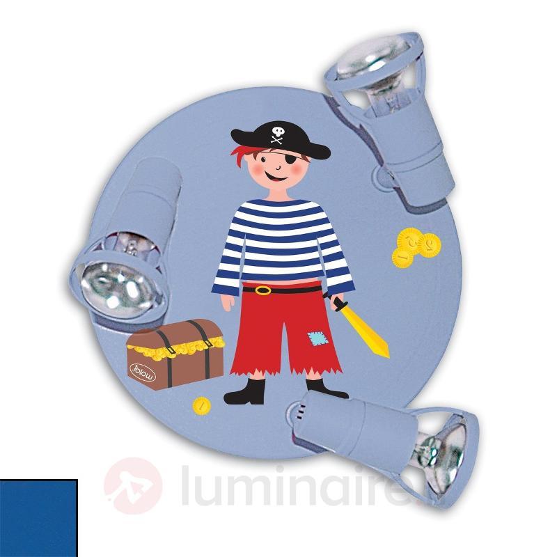 Plafonnier rond 3 lampes PIRAT - Chambre d'enfant