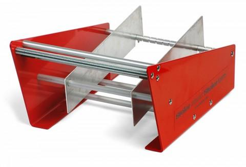 manual dispenser, red, working width: up to 180 mm - robust metal self-construction