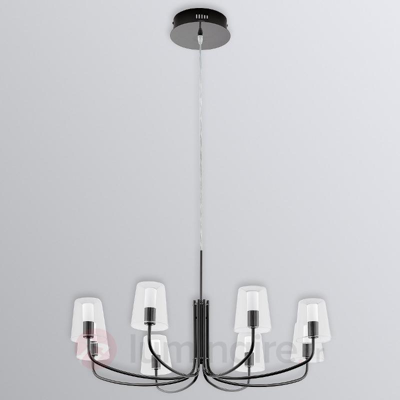 Noventa suspension LED, abat-jour en verre - Lustres à abat-jour