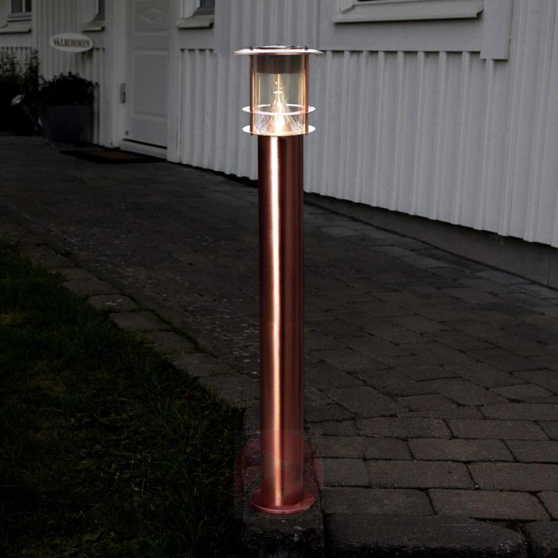 Stylish LED bollard light Juno - solar-powered - outdoor-led-lights