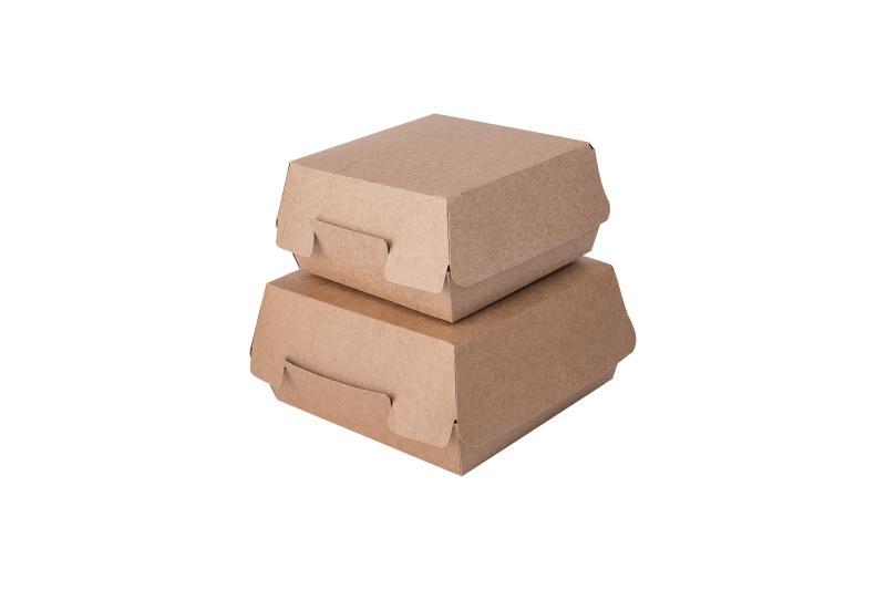 Packaging for burgers «Pure Kraft» - Kraft burger box, deep brown colour