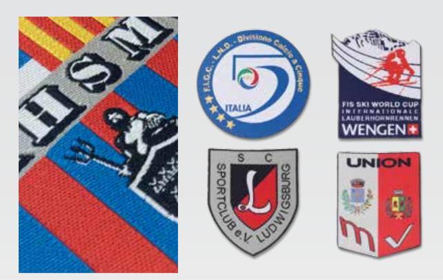 Scudetti sportivi da stirare o cucire su divise e maglie - Scudetti per divise sportive applicabili con ferro da stiro o cucitura
