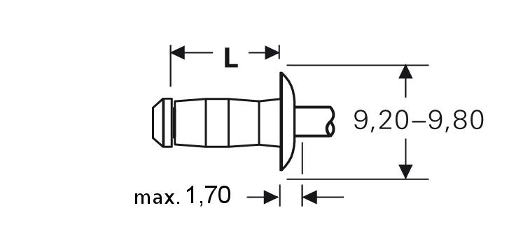 Blind rivet technology - POP® - Vgrip™-rivets - Domed head
