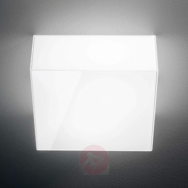 White glass ceiling light Compact - Ceiling Lights