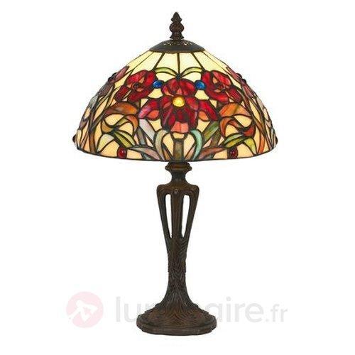 Lampe à poser classique ELINE style Tiffany 40 cm - Lampes à poser style Tiffany