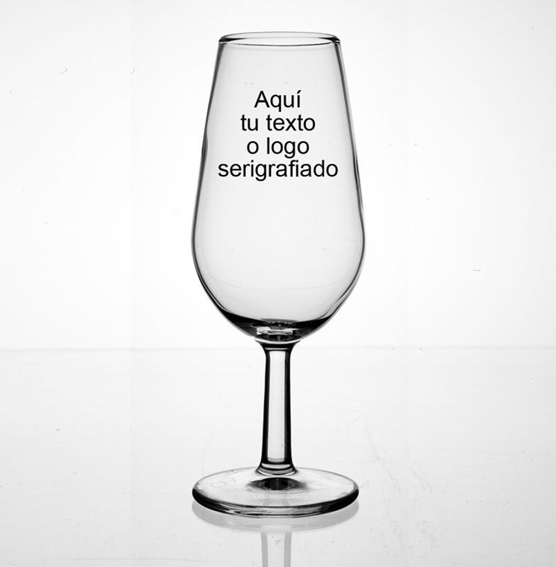 Copa Catavinos de cristal 15 CL - Catavinos personalizables con el logo o texto que desee serigrafiado