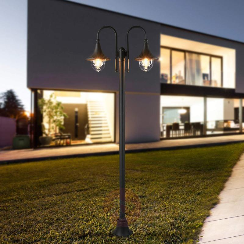 Lilou Post Light Aluminium Two Bulbs - Pole Lights