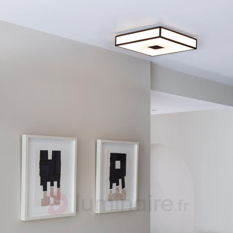 Plafonnier moderne Mashiko 40x40 cm bronze - Salle de bains