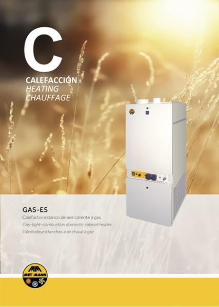 Calefacción doméstica con aire caliente a gas 15 a 34 kW - G - caldera de aire caliente con funcionamiento a gas
