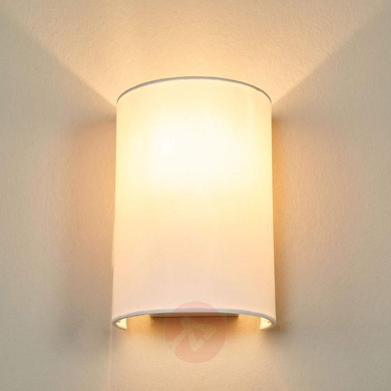 White Coral fabric wall light - Wall Lights