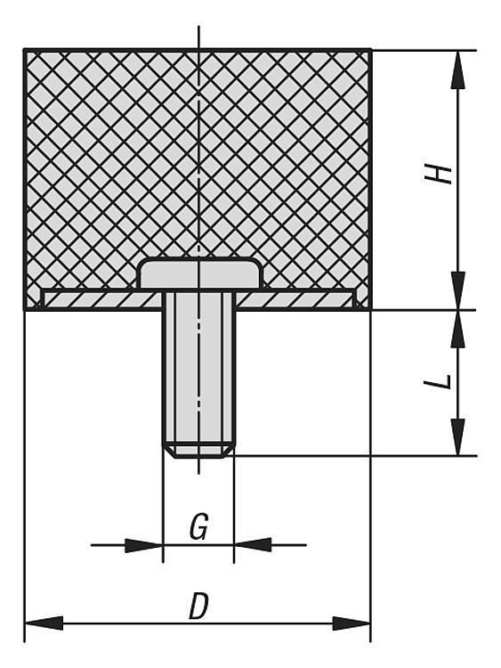 Rubber buffers style D - K0571