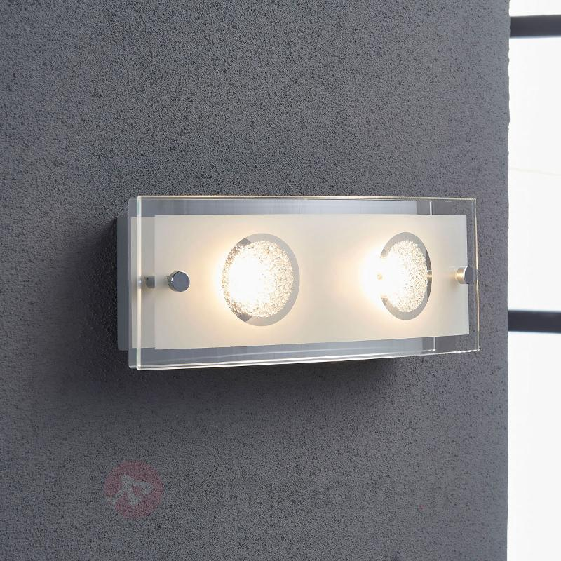 Applique en verre Joicy à LED - Appliques LED