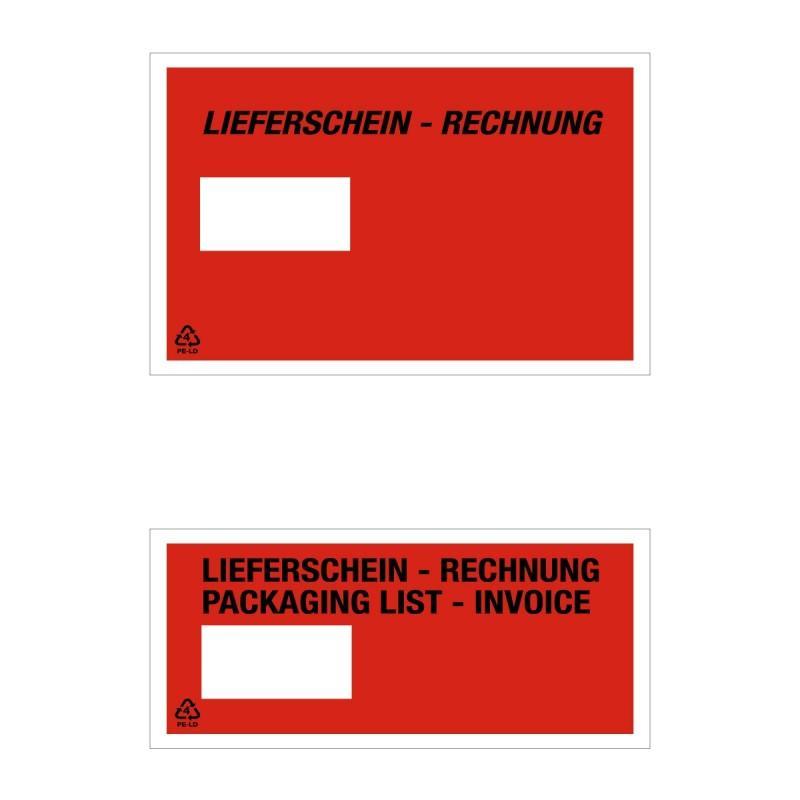 Lieferschein- und Dokumententasche Fenster - Lieferschein- und Dokumententasche Fenster links
