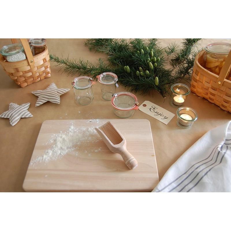 Tarros Weck® DROIT - 12 tarros en vidrio Weck Derecho 160 ml con tapas en vidrio y gomas (clips no