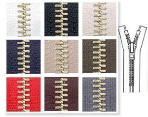 Zip 5 laiton fixe (Standard - 18 cm - Blanc) - Fermetures à glissière