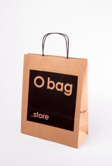 Paper bag, eco (brown) with a twisted paper handle -