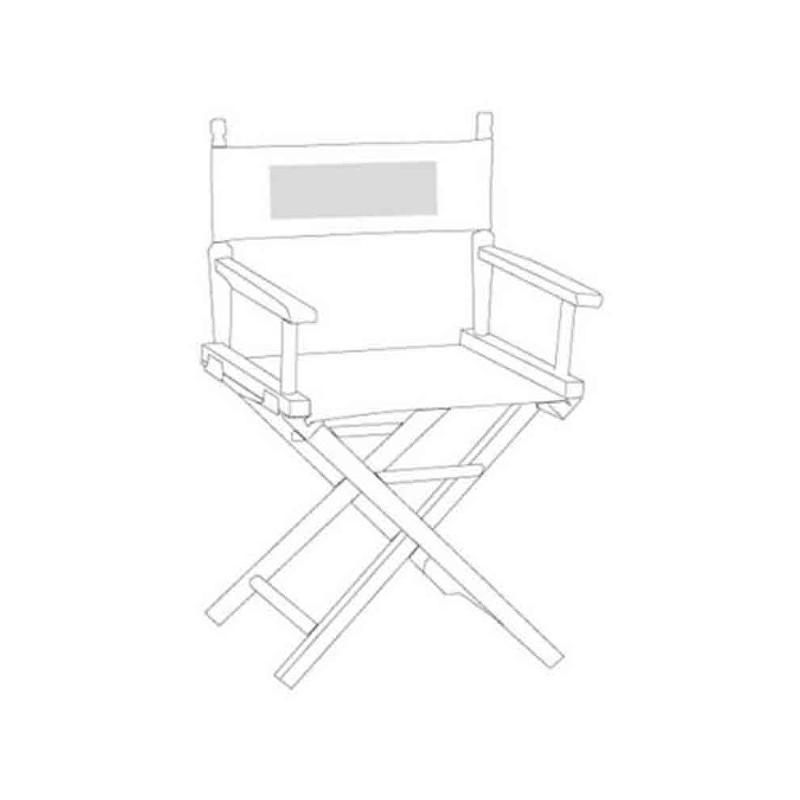 Chaise metteur en sc ne beige transats personnalis s rue du print france - Chaise metteur en scene ...