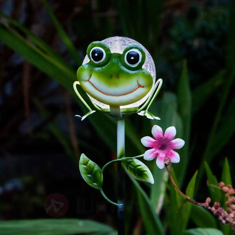 Jolie lampe solaire à piquet Sicily grenouille - Lampes décoratives d'extérieur