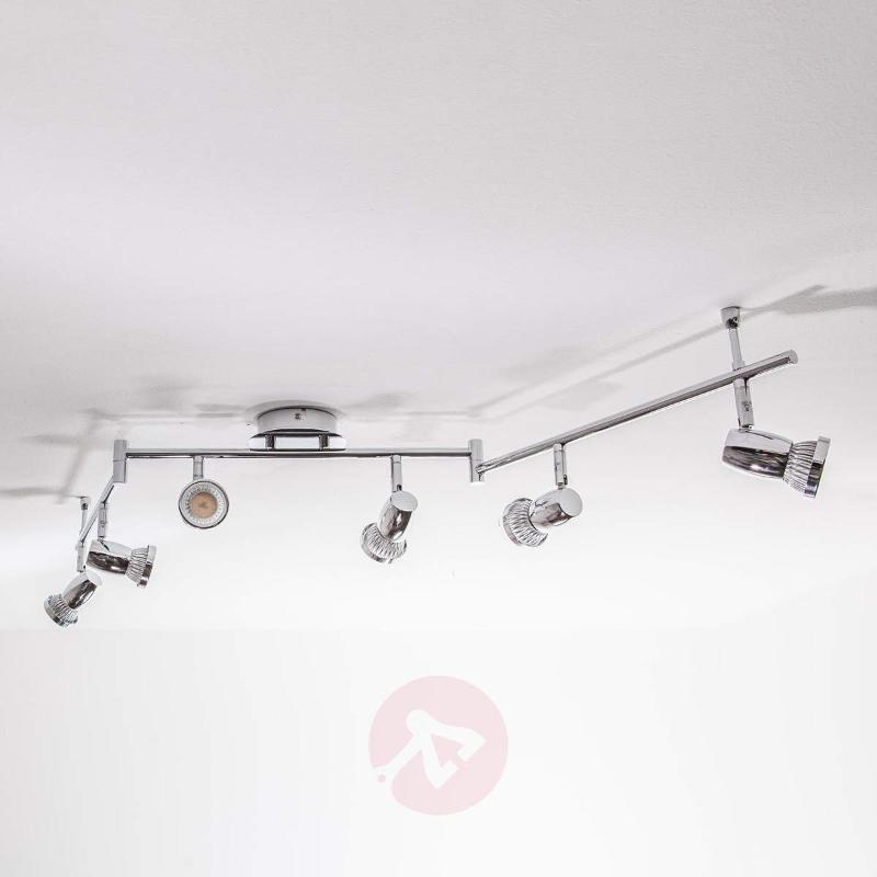 6-Bulb chrome LED ceiling lamp Arminius - Ceiling Lights