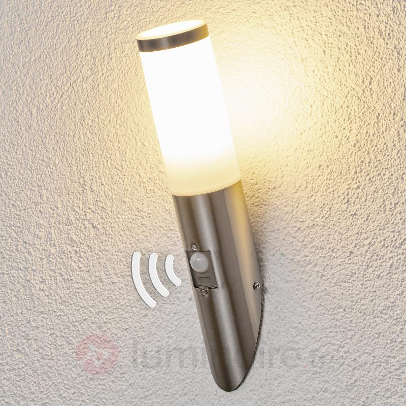 Applique inox avec détecteur de mouvement Kristof - Appliques d'extérieur avec détecteur