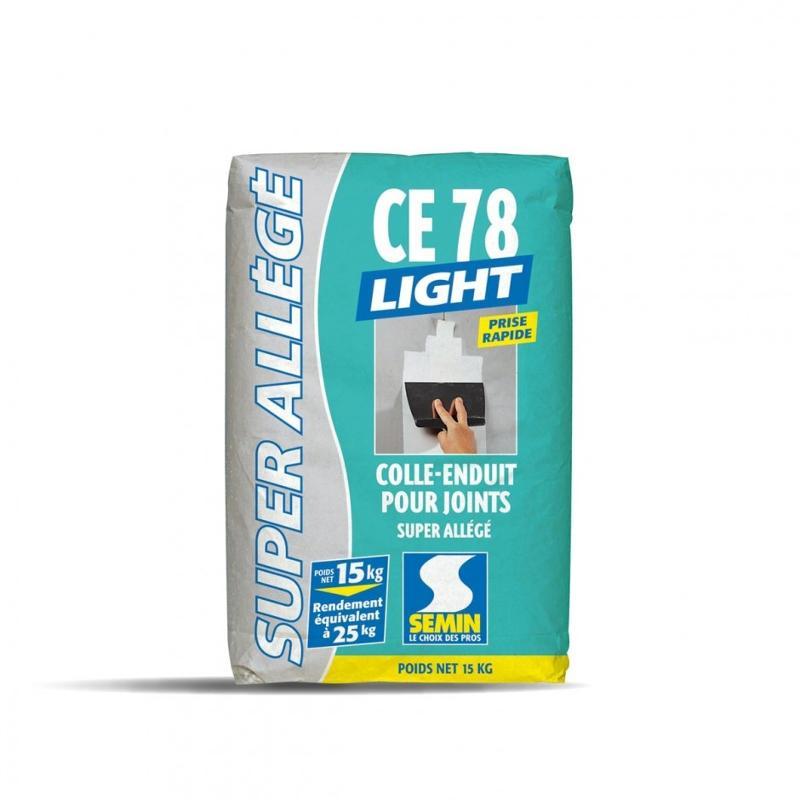 Colle-enduit allégé pour joints de plaques de plâtre - CE 78 LIGHT 4 H