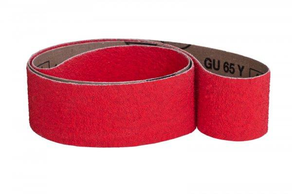 Schleifbänder für Stahl, Chrom, Messing, Bronze GU65Y - Körnungen: P24, P36, P40, P50, P60, P80, P100, P120