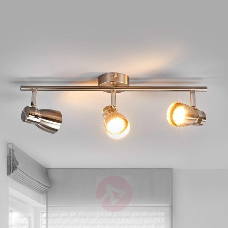 Hilda - 3-bulb ceiling spotlight, matt nickel - indoor-lighting