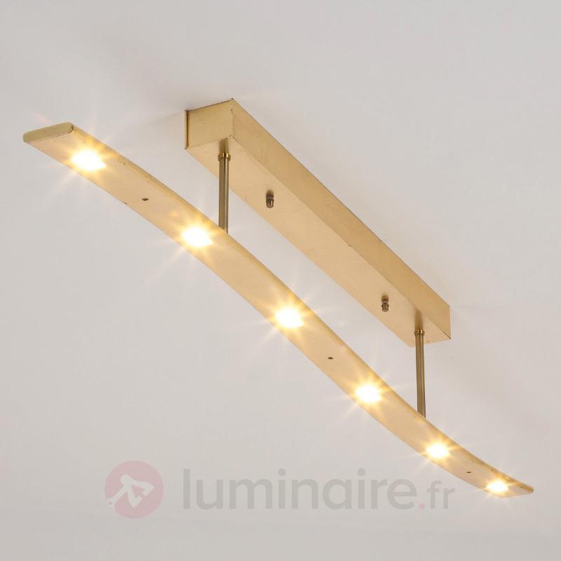 Plafonnier LED Xalu ondulé aspect doré antique - Plafonniers LED