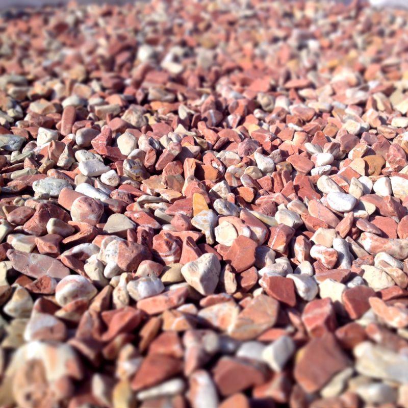 Sac de galet decoratif - Galets Marbre rouge Corail
