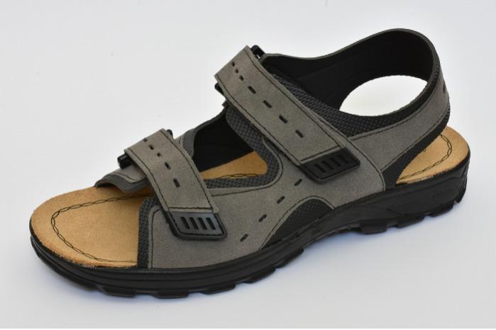 Sandalo uomo pelle sottopiede pelle fondo poliuretano - Sandalo uomo pelle sottopiede pelle fondo poliuretano