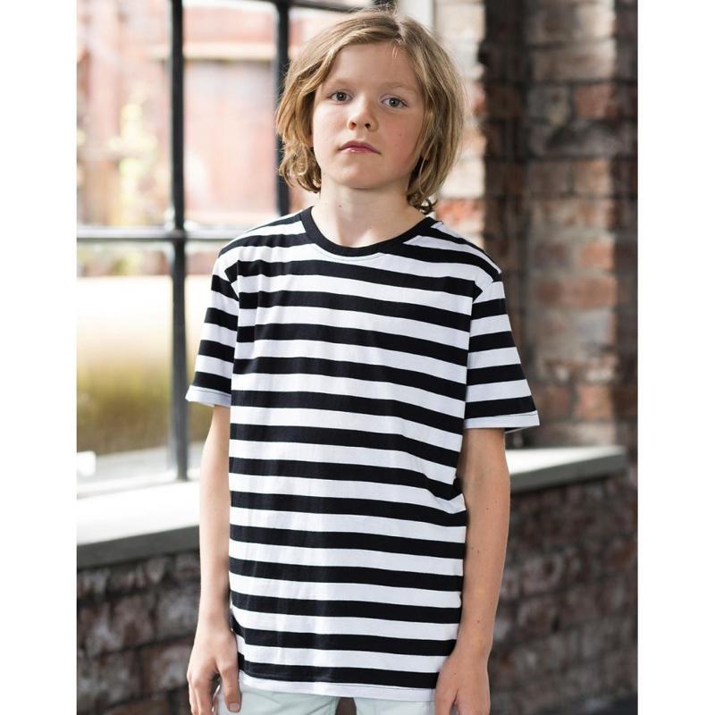 Tee-shirt enfant à rayures - Manches courtes