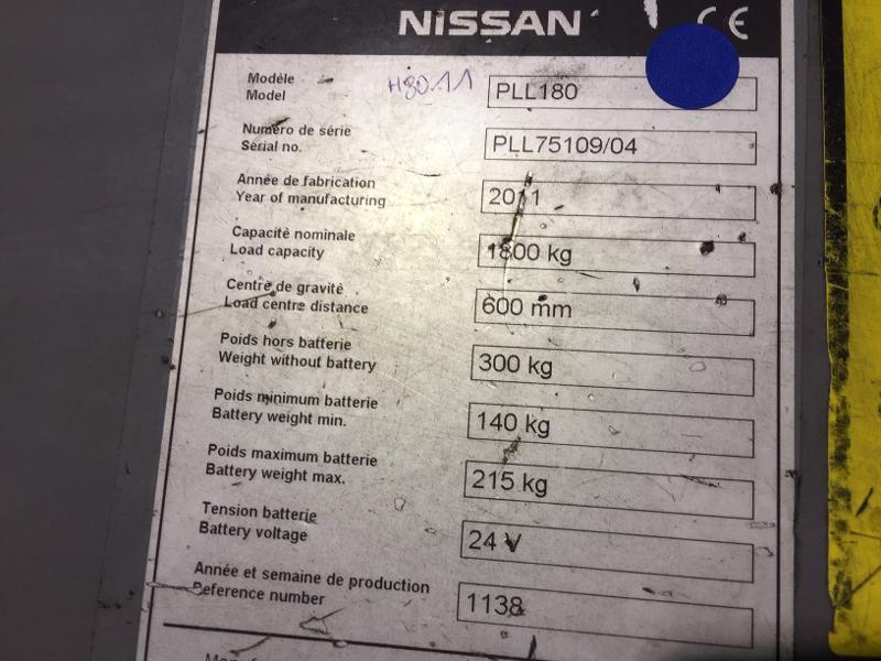 Transpalette accompagnant Nissan PLL180 - Matériels d'occasion