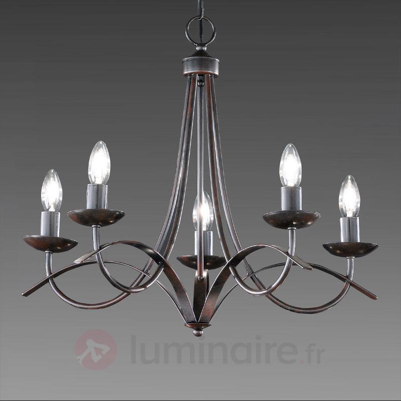 Lustre à cinq lampes Hannes - Tous les lustres