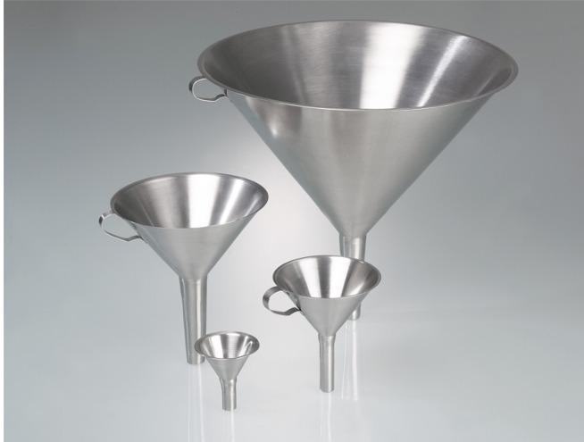 Funnel, stainless steel - 60 mm, 100 mm, 150 mm, 300 mm outer dia, Laboratory & industrial equipment