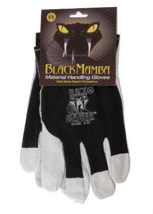 Gants en cuir et coton Black Mamba