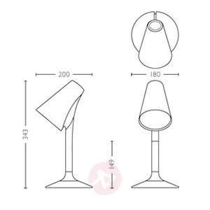 Designer LED table lamp Piculet in black - Table Lamps