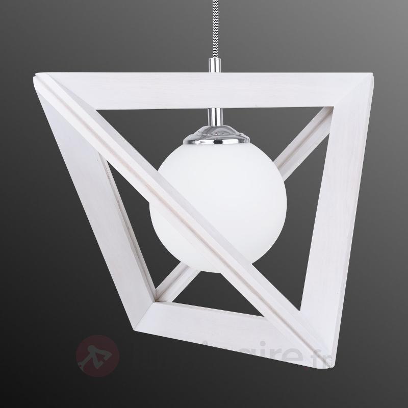 Extravagante suspension Trigonon blanc - Suspensions en bois