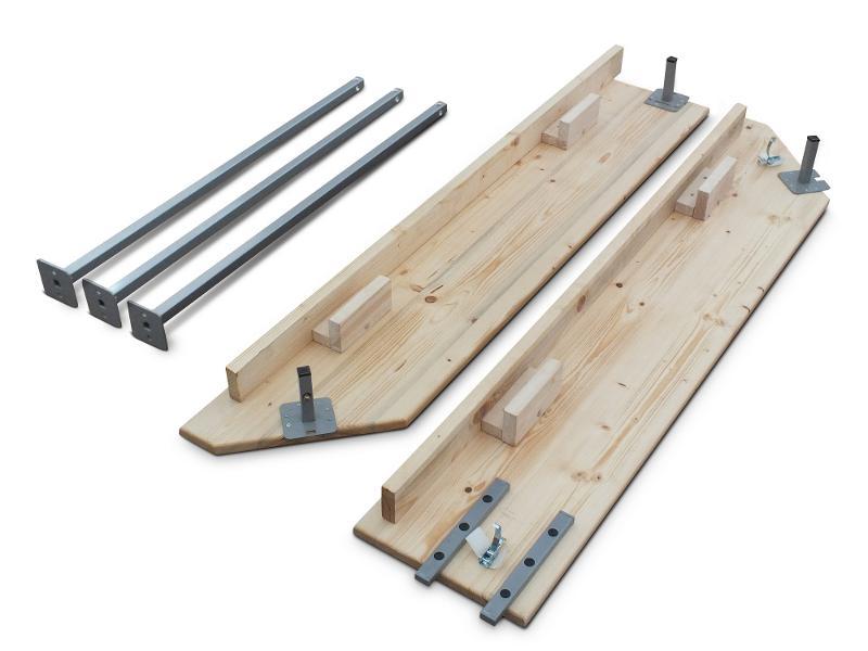 Comptoir en bois et jupe - Accessoires pour tentes pliantes proSZC et proSZP