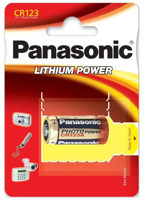 Batterie al litio Foto Power CR123 - CR123AL/1BP | Blister da 1 pila per fotocamere Panasonic
