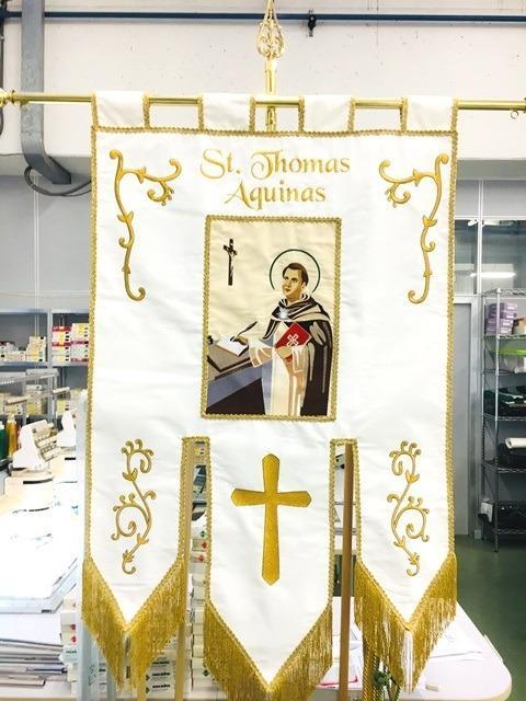 Stendardi Religiosi ricamati su misura - Stendardi Religiosi ricamati su misura per liturgia e comunita' religiose