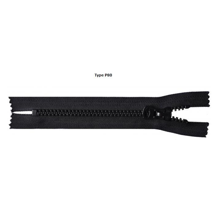 PLASTIC ZIPPERS - Plastic 8mm P80 zippers.