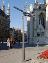 Flèche de signalisation touristique - Pièces en aluminium par coulée coquille pour le secteur urbain
