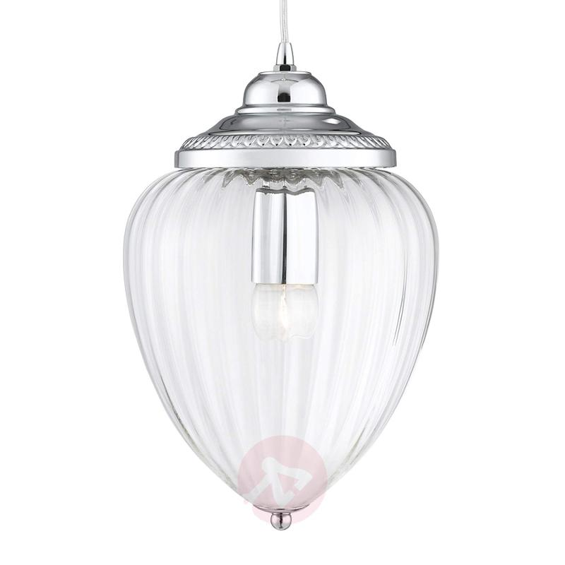 Glass hanging light Pendants with grooves - indoor-lighting