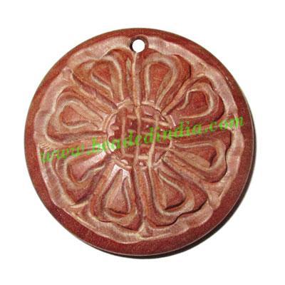 Handmade wooden fancy pendants, size : 40x8mm - Handmade wooden fancy pendants, size : 40x8mm