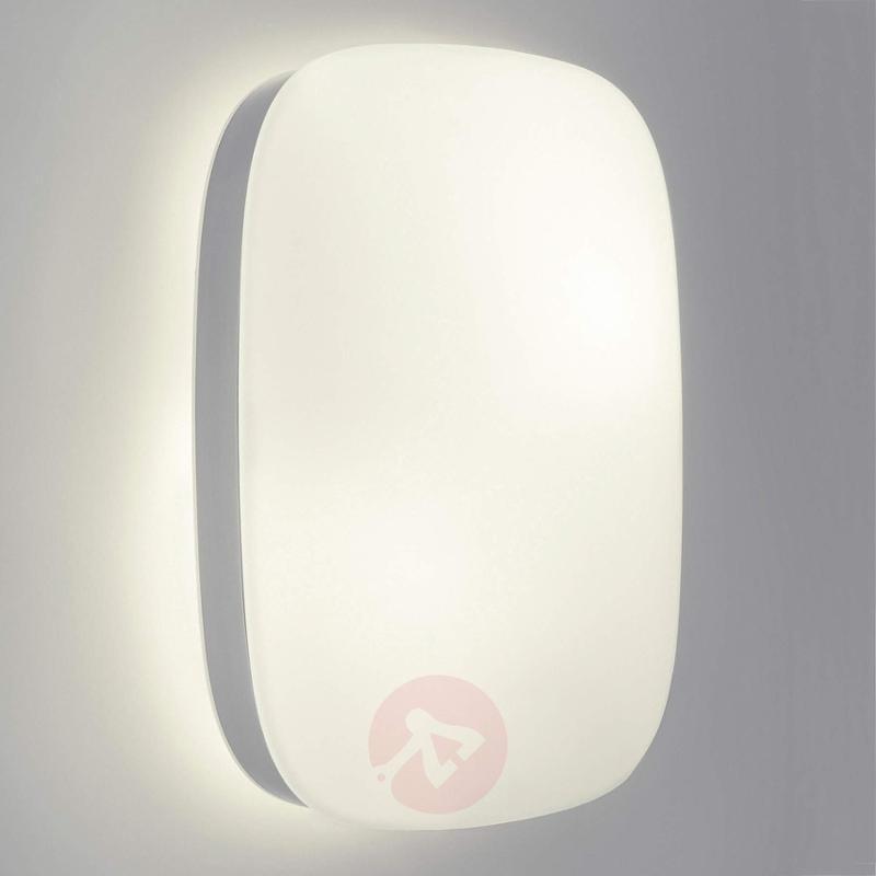 Modern Dandelion outdoor wall light - stainless-steel-outdoor-wall-lights